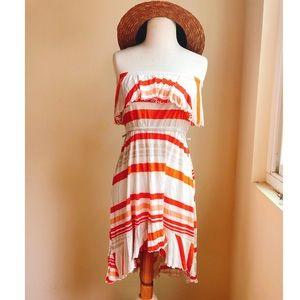 American Rag Multicolor Stripe High Low Dress